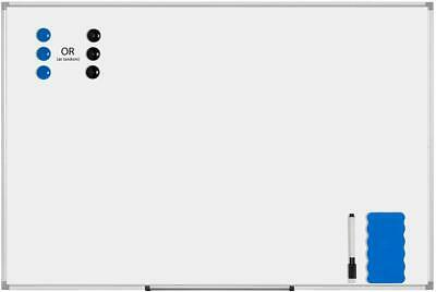 Vivohome 24x36 Wall Mounted Whiteboard Movable Aluminum Tray Magnetic Dry Erase