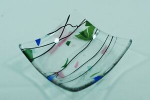 Ring Tray Dish Fused Glass Jewellery Display Storage Holder Bowl Earring New