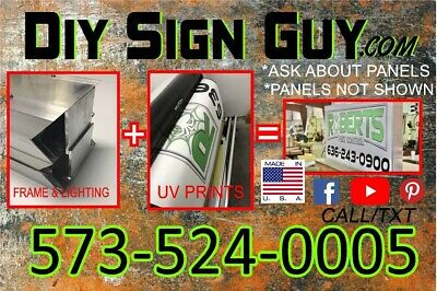 2x6 Outdoor Lighted Sign Box- L.e.d -diy Kit