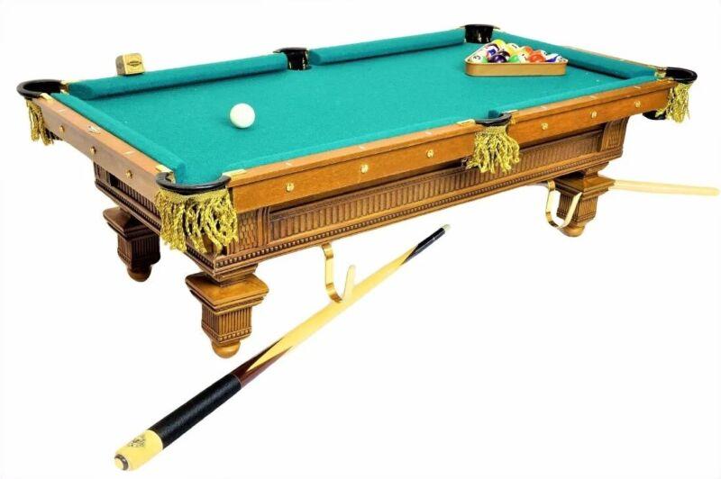 FRANKLIN MINT MINI BRUNSWICK SLATE POOL TABLE