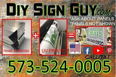 3x4 Outdoor Lighted Sign Box- L.e.d -diy Kit
