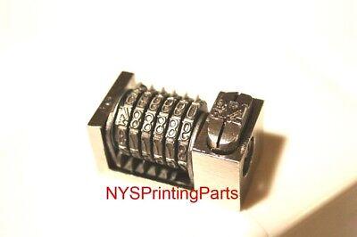 Letterpress Numbering Machine 6 Digit Backward For Heidelberg Windmill Kluge 1pc