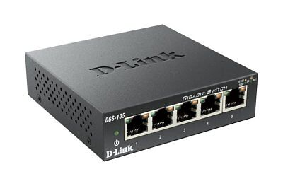 D-Link 5 Port Gigabit Unmanaged Metal Desktop Switch