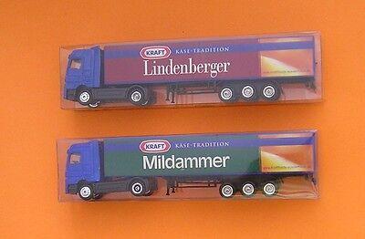 "2 Stück Werbe-LKW Trucks 1:87  "" Kraft Käse Tradition "" OVP neu bitte lesen"