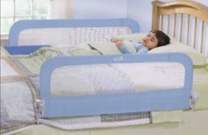 2 Toddler bed guards