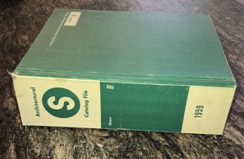 Vintage Sweets Architectural Catalog Book File 1959 Doors MCM