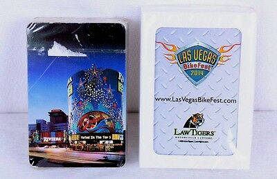 Las Vegas NV Riviera Hotel Casino and Bike Fest Playing Cards Lot of 2 Sealed