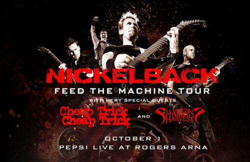 """NICKELBACK / CHEAP TRICK """"FEED THE MACHINE TOUR"""" 2017 VANCOUVER CONCERT POSTER"""