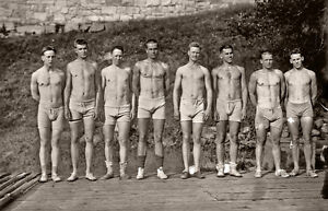 Old-Photo-handsome-men-in-swim-suits-Shirtless-4x-6-reprint