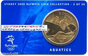 AQUATICS-5-DOLLARS-SYDNEY-2000-OLYMPIC-COIN-2-28-AUSTRALIAN-MINT