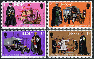 Jersey 175-178, MI 164-167, MNH. St. John Ambulance Association, cent.,Ship,1977