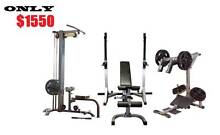 Lat Pulldown / Row / Squat Calf Raise / Adjustable Bench and Rack Fairfield Fairfield Area Preview