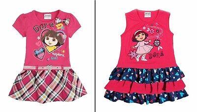SALE! Kids Baby Girls Dora The Explorer Cotton Short Sleeve or Sleeveless - The Explorer Girls