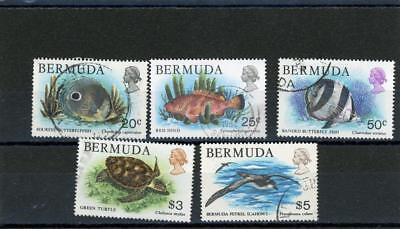 - Bermuda 1978  Birds, Fish, Butterflies Scott# 371//379 canceled