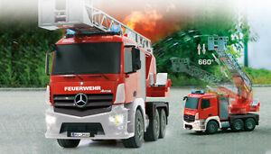 RC Feuerwehr Auto mit Spritzfunktion & Drehleiter Feuerwehrauto Mercedes   TOP