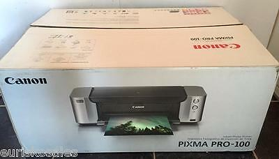 Canon PIXMA PRO-100 Color Inkjet Photo Printer wide format professional portrait