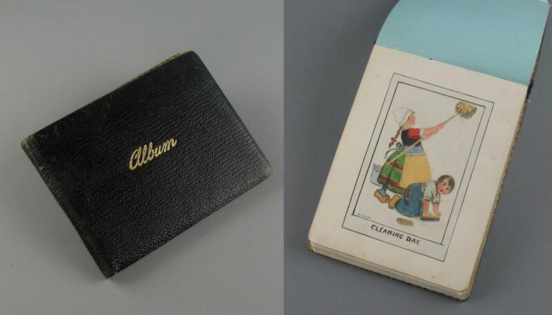 Vintage+Autograph+Album+Sketch+Book+Drawings+Paintings+Pictures+1940s