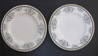 """SET OF 2 VINTAGE PICKARD """"NAVARRE""""  BREAD AND BUTTER PLATES"""