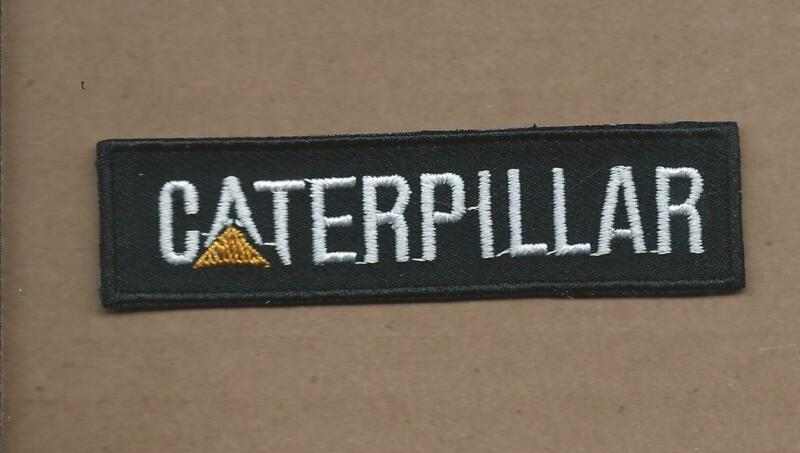NEW 1 X 3 1/2 INCH CATERPILLAR EQUIPMENT IRON ON PATCH FREE SHIPPING