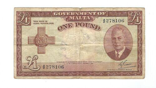 Malta - 1951, One (1) Pound