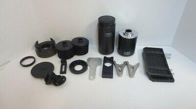 Lot Of Olympus Camera Phototube Adapters Microscope Parts U-spt Utv1x U-cmad-2