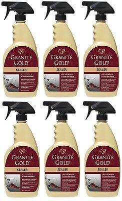 6  Bottles Granite Gold Gg036 24 Oz Granite   Natural Stone Protector   Sealer