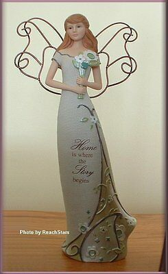 Home Angel Figurine By Perfectly Paisley 12 Inches Free U. S. Shipping