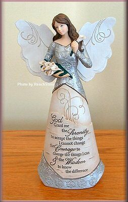 Serenity 9 Inch Angel With Calla Lilies by Pavilion Elements Free U.S. Shipping