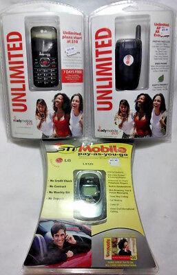 3 PACK NO CONTRACT PHONES LG LX125 / LG 101 / KYROCERA KX9 NEW SEALED FREE SHIP