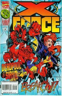 X-Force # 47 (bound-in Marvel Overpower CCG card) (USA, 1995)