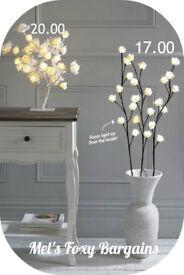 LED White Rose Tree/Branches,Brand New