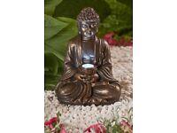 Bronzed Effect Solar Buddha Ornament