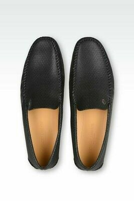 GIORGIO ARMANI BLACK CALF LEATHER DRIVING MOCCASINS LOAFERS SHOES SIZE US 8 UK 7 Calf Leather Driving Shoes