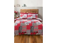DOUBLE - Alpine Patchwork Flannelette duvet set