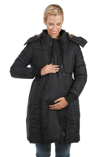 Maternity Coat Long Quilted Puffer Madison 3-in-1