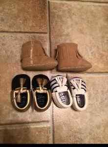 Brand new baby moccs and booties!