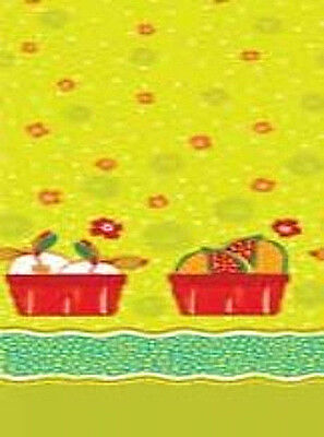 (Cucina Fresco Cotton Quilt Fabric Basket Border Print Red Rooster Bfab )