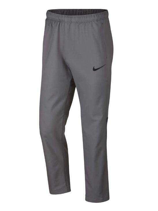 Nike Men's Dri-Fit Woven Gunsmoke Grey Black Training Pants