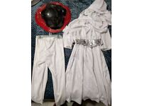 Princess Leia Costume for Kids Star Wars Fancy Dress Halloween Dressup, Small, Age 3 - 4 years Girls
