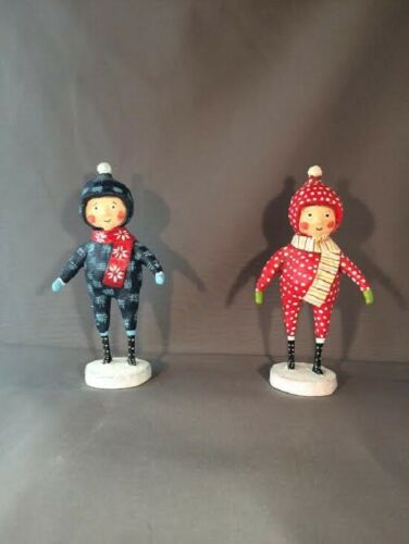 Lori Mitchell Snow Day Duo Set Of 2  Figure Holiday Christmas 38145