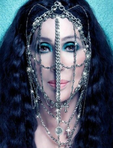 """Cher 2014 """"Dressed To Kill Tour"""" Holographic 3D Plastic Poster 11""""x 17""""  Mint!"""