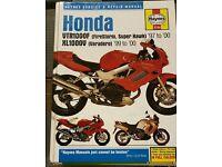 Honda vtr workshop manual