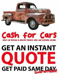 Top Dollar For Scrap Cars | $300-$10000  same day service - Toronto,Oshawa,Markham,,Mississauga,Milton scrap your car