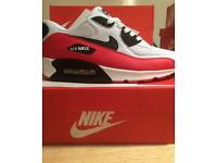 NIKE AIRMAX 7 8 9 RED BLACK AND WHITE