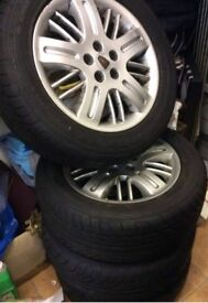4 Brand new tyres and alloys 215/55 ZR16 97W