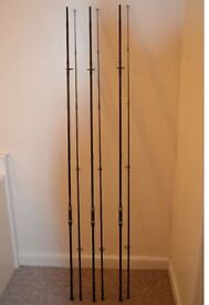 3 x Nash entity carp rods