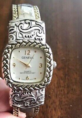 Geneva Womens Watch Hinged Works New Battery