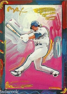 Mark McGwire 1997 Topps Gallery Peter Max Serigraph Insert PM8 - $24.99