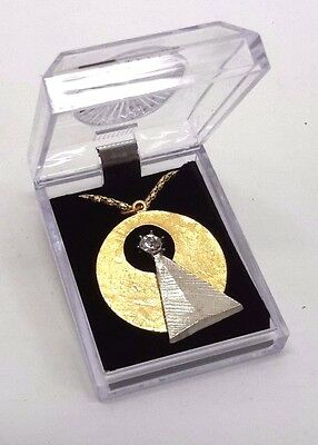 "Star Trek Vulcan IDIC Medallion 1-1/2""  Pendant w/ 24"" Chain in Deluxe Case"