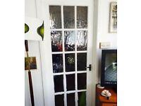 2 glazed internal doors